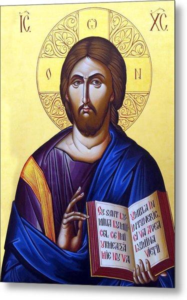 Icon Of Christ In Jericho Metal Print