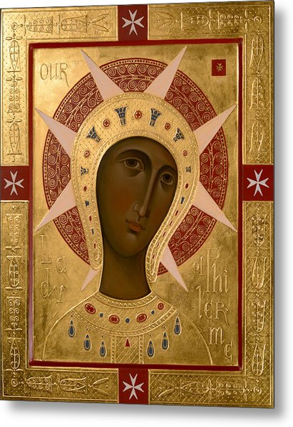 Icon Of Our Lady Of Filermo. Metal Print