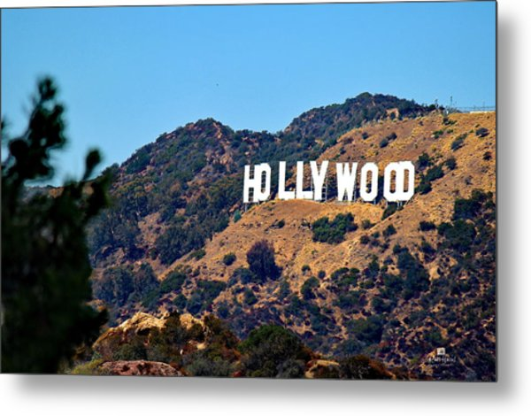 Iconic Hollywood Sign Metal Print