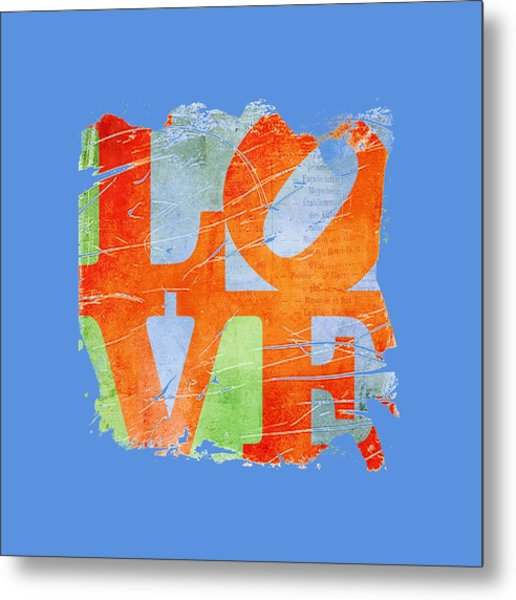 Iconic Love - Grunge Metal Print