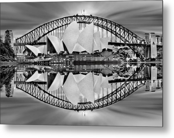 Iconic Reflections Metal Print