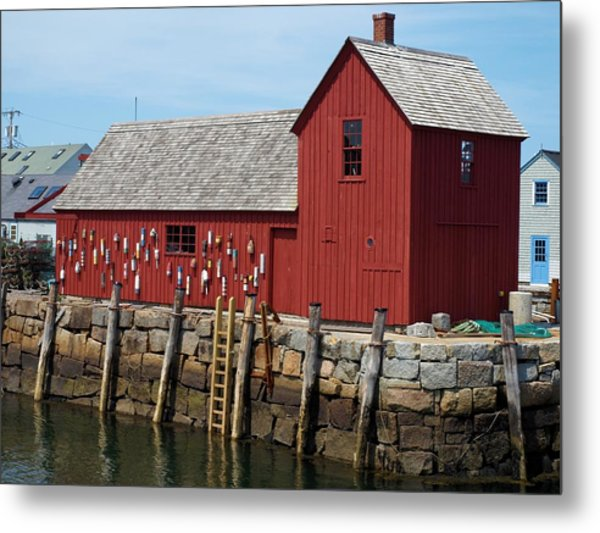 Iconic Rockport Ma Metal Print