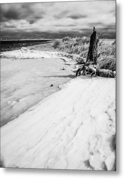 Icy Beach Metal Print