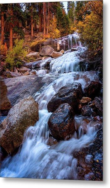 Icy Cascade Waterfalls Metal Print