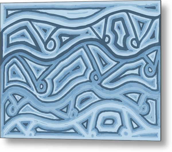 Icy Layers Metal Print