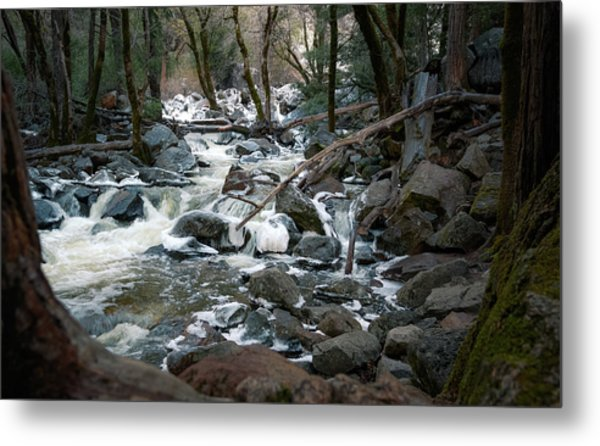 Icy River Below Bridalveil Yosemite California Metal Print