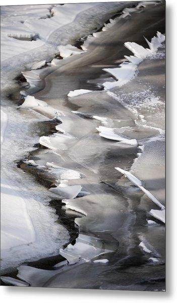 Icy Shoreline Metal Print
