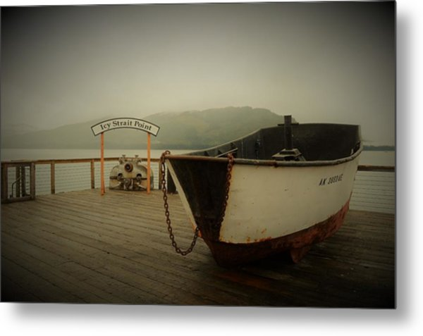 Icy Strait Point Boat Metal Print