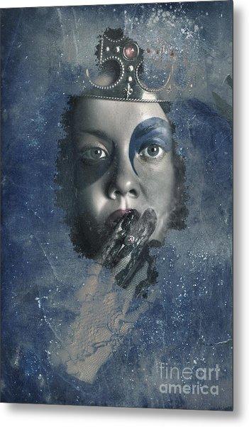 Icy Window Reflection. Wicked Queen Of Winter Metal Print