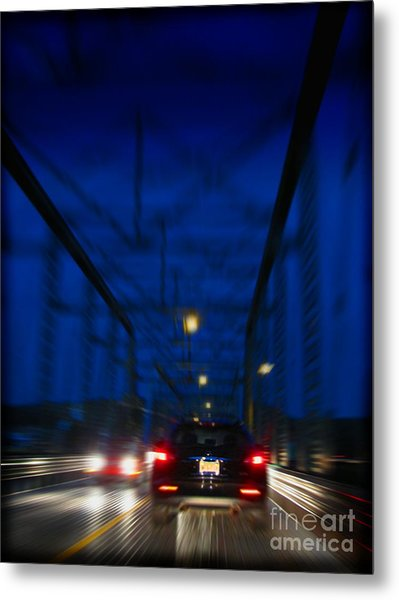 I'd Drive All Night Metal Print by Colleen Kammerer