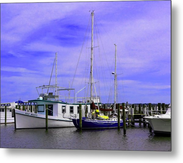 I Would Rather Be Sailing Metal Print