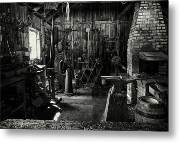 Metal Print featuring the photograph Idle Bw by David Buhler