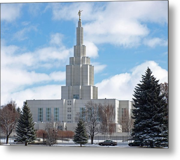 If Temple Against The Sky Metal Print