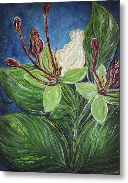 Metal Print featuring the painting Ifit Flower Guam by Michelle Pier