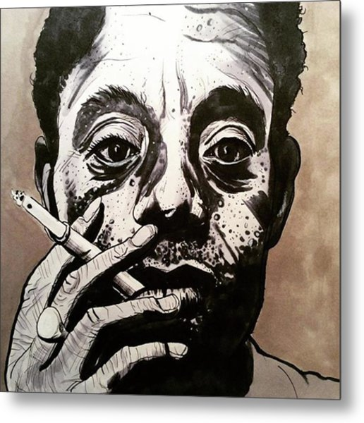 James Baldwin Metal Print by Russell Boyle