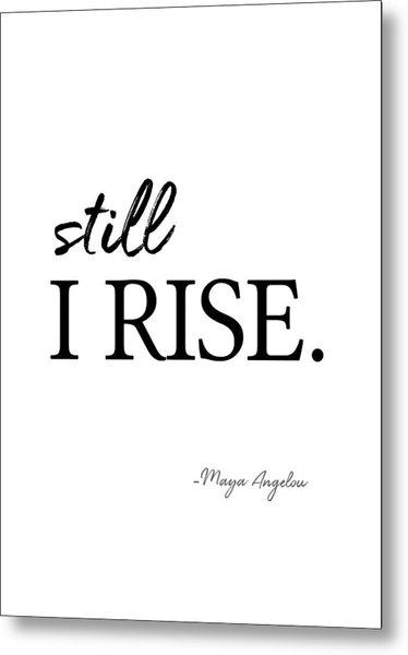 I'll Rise #minimalism 3 Metal Print
