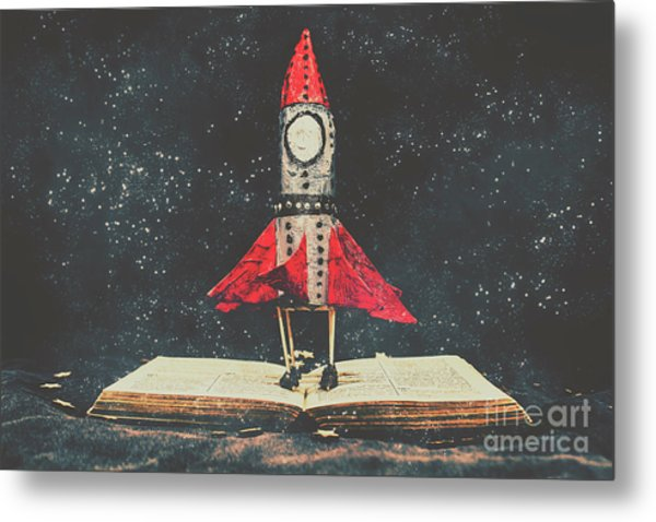 Imagination Is A Space Of Learning Fun Metal Print
