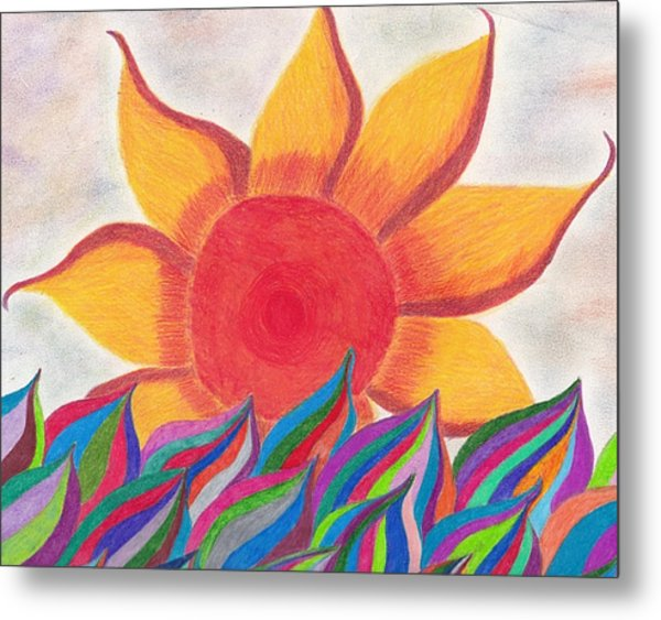 Imagination's Sun Metal Print by Laurie Gibson