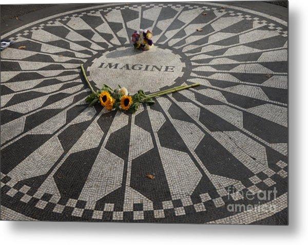 'imagine' John Lennon Metal Print