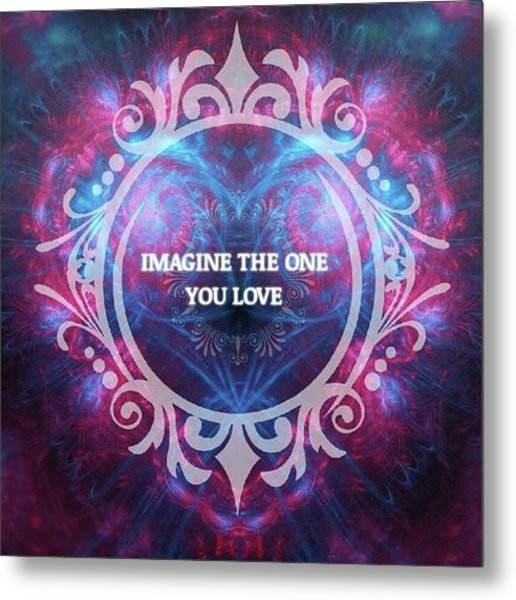 #imagine #love #heart #art #digitalart Metal Print by Michal Dunaj