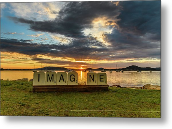 Imagine Sunrise Waterscape Over The Bay Metal Print