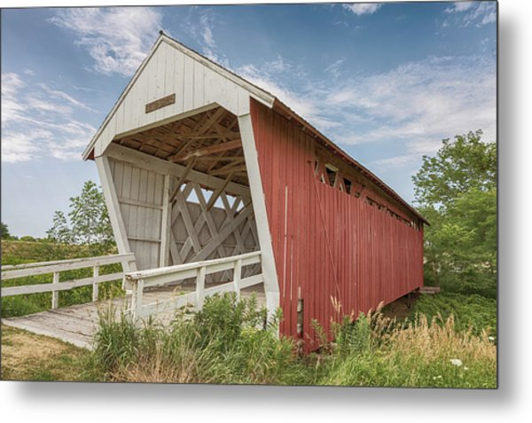 Metal Print featuring the photograph Imes Covered Bridge by Susan Rissi Tregoning