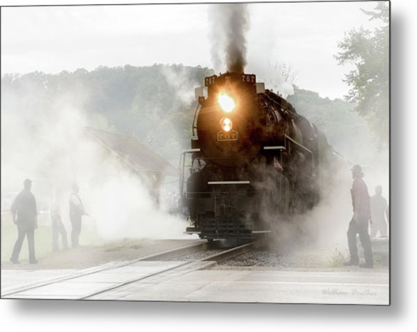 Immersed In Steam Metal Print