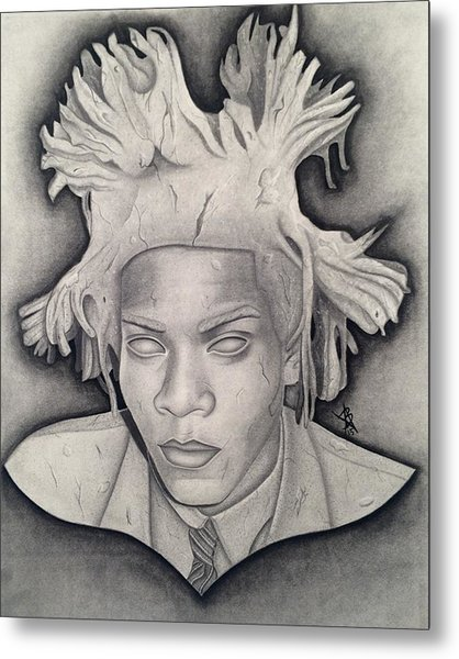 Immortalizing In Stone Jean Michel Basquiat Drawing Metal Print
