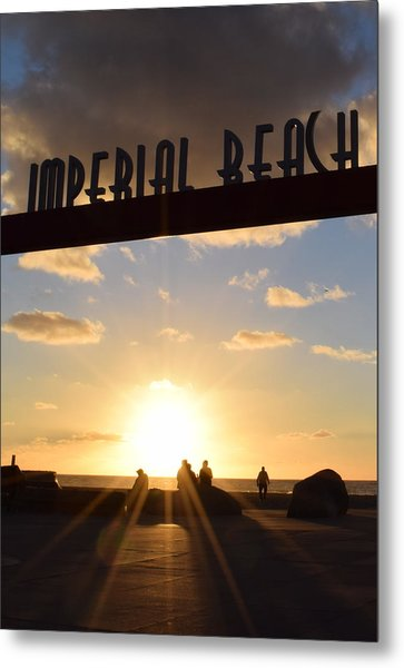 Imperial Beach At Sunset Metal Print