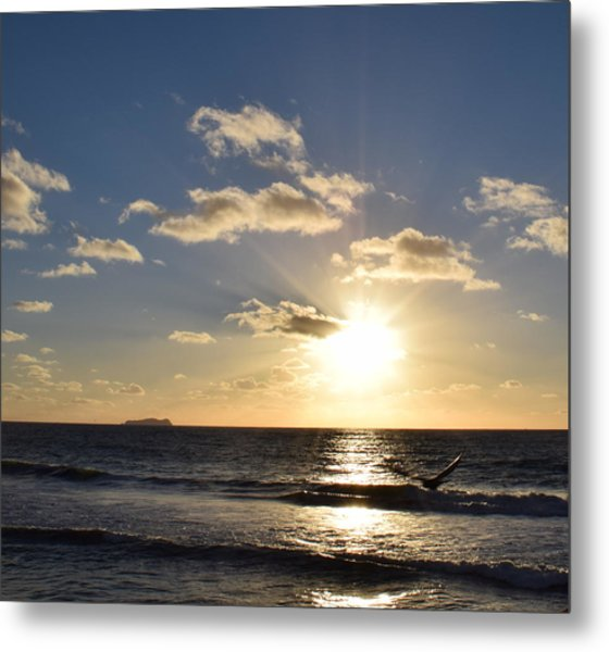 Sunset Reflection At Imperrial Beach Metal Print
