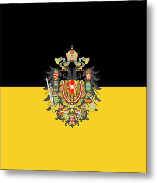 Metal Print featuring the digital art Habsburg Flag With Imperial Coat Of Arms 1 by Helga Novelli
