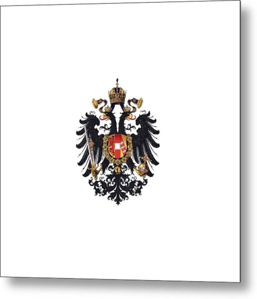 Metal Print featuring the drawing Imperial Coat Of Arms Of The Empire Of Austria-hungary 1815 Transparent by Hugo Gerard Stroehl