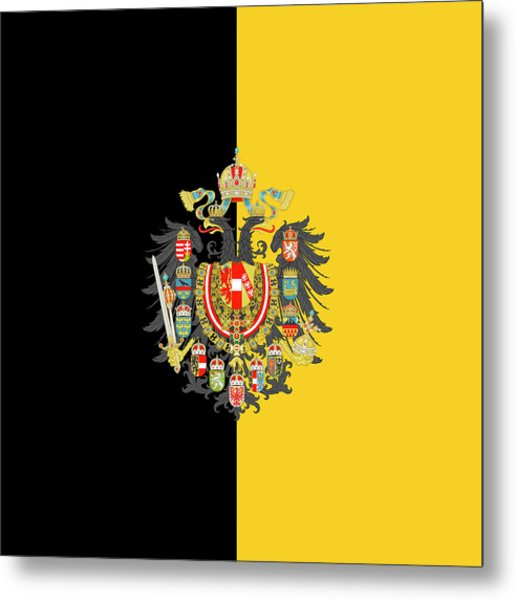 Habsburg Flag With Imperial Coat Of Arms 2 Metal Print