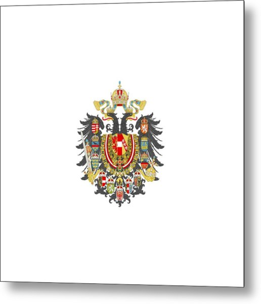 Imperial Coat Of Arms Of The Empire Of Austria-hungary Transparent Metal Print