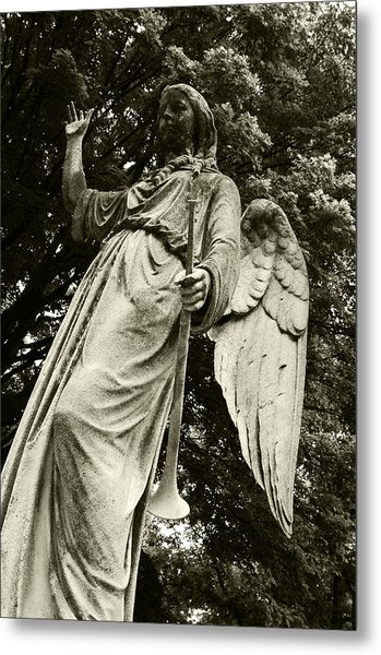 Imposing Angel Metal Print by Brigid Nelson