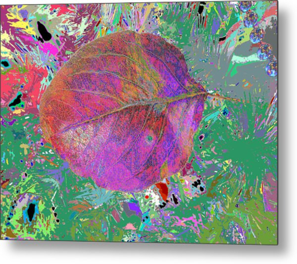 Imposition Of Leaf At The Season 4 Metal Print