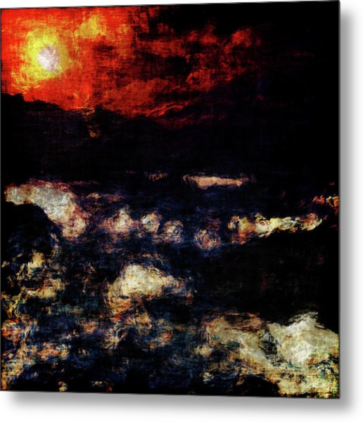 Metal Print featuring the painting Impression Of A Seaview by Jan Keteleer