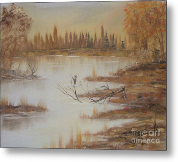 Impressions In Oil - 8 Metal Print by Bill Turck