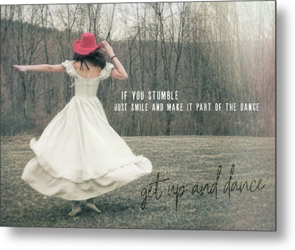 Improvise Quote Metal Print by JAMART Photography