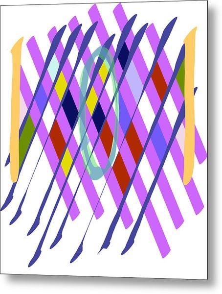 Improvised Geometry #1 Metal Print