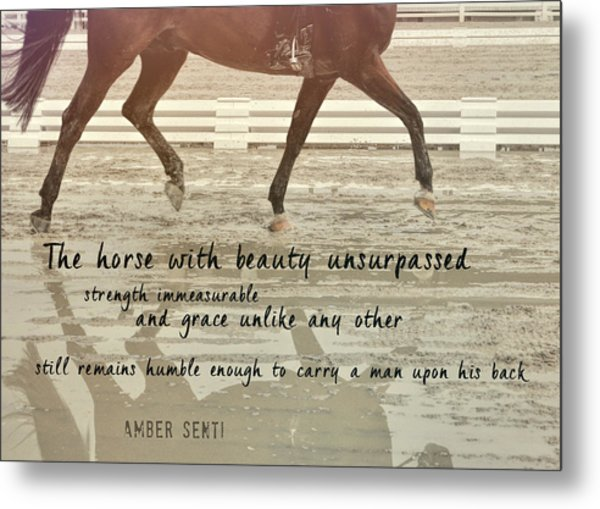 Impulsion Mirrored Quote Metal Print by JAMART Photography