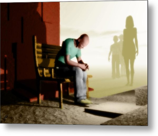 In A Fog Of Isolation Metal Print