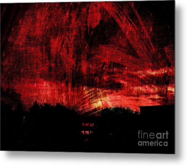 In A Red World Metal Print