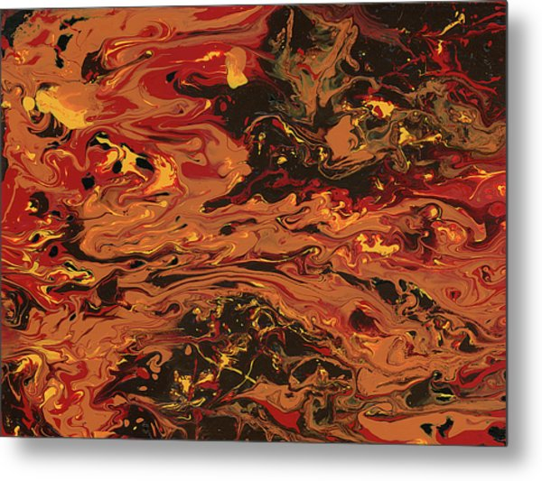 In Flames Metal Print