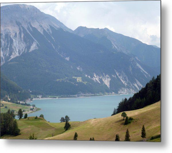 In Front Of The Lake Metal Print