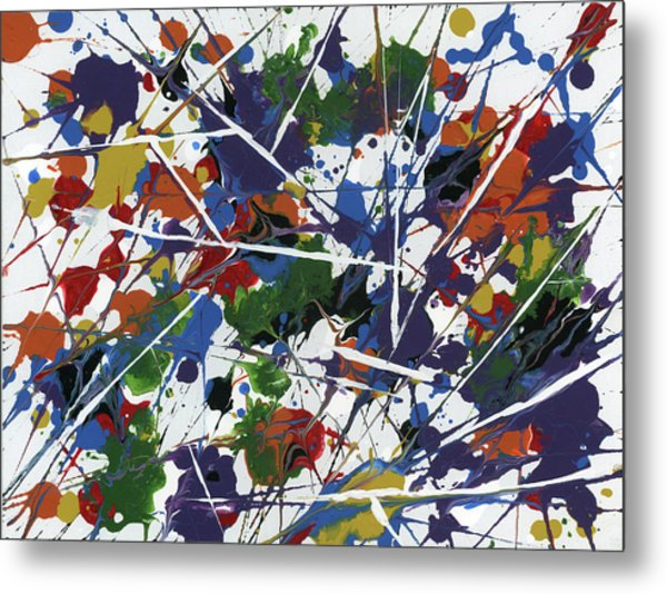 In Glittering Rainbow Shards Metal Print
