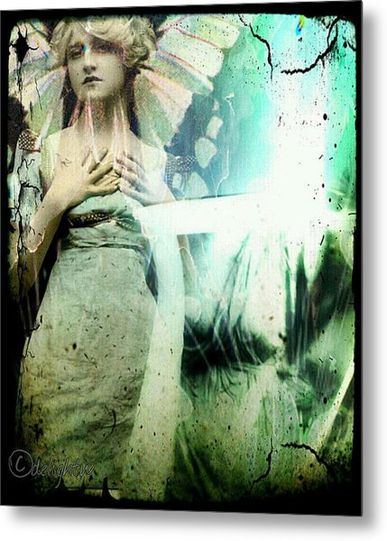 Metal Print featuring the digital art In Her Dreams She Could Fly Unfettered by Delight Worthyn