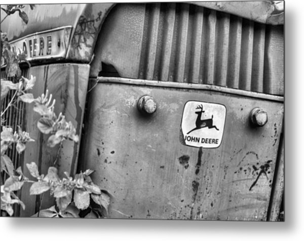 In John Deere Greene Bw Metal Print