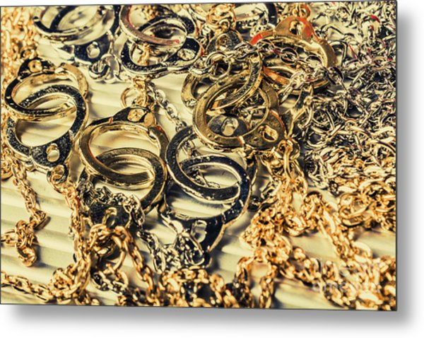 In Locks And Chains Metal Print
