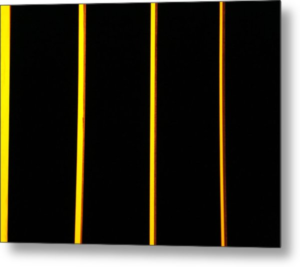 In Memory Of Dan Flavin Metal Print by Kevin Callahan